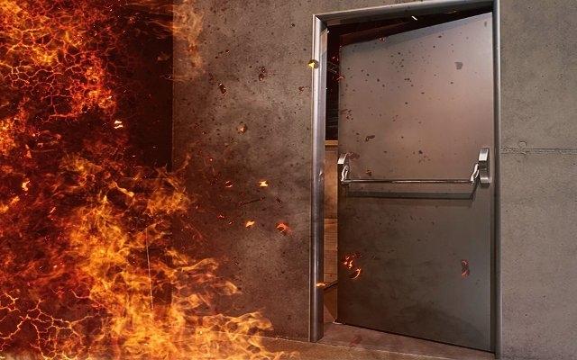 Конструкция двери противопожарной металлической (ДПМ)