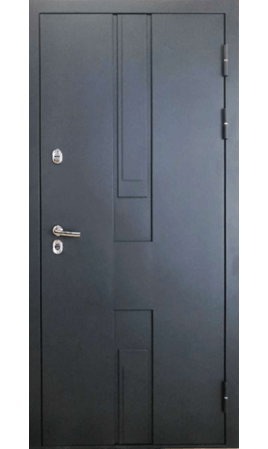 Дверь стальная Цефей 3 ТЕРМО (RAL 7035+муар 7016/Силк титан)