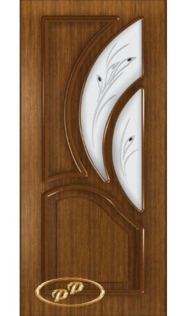Межкомнатная дверь Карелия-2 ДО (Орех)