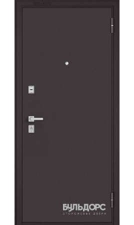 Дверь стальная Бульдорс Steel-12 NEW (Букле шоколад/Букле шоколад)