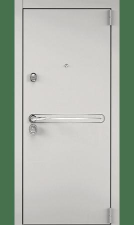 Дверь стальная SUPER OMEGA 100 (Бьянко муар/Милк матовый)