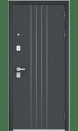 Дверь стальная Premium 90 (Черный шелк/Бетон темный)