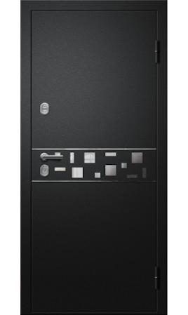 Дверь стальная Троя 22 ДН-К (Sahara 501 Black/Бетон лофт графит)