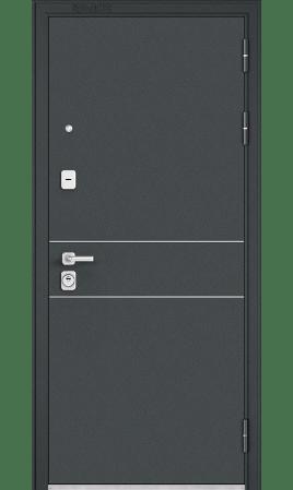 Дверь стальная Premium 90 (Черный шелк/Дуб шале натуральный)