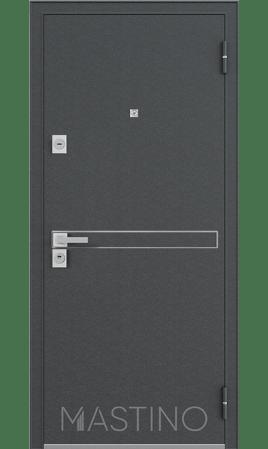 Стальная дверь Mastino Terra (Черный шелк/Графит софт)