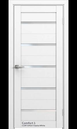 Межкомнатная дверь Comfort-1 (CT Alaska White)