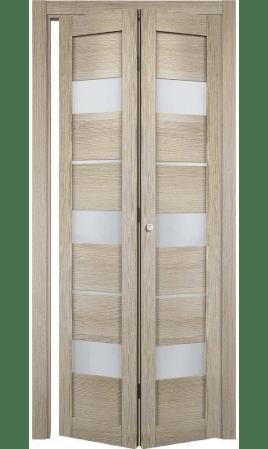 Дверь книжка Прага (Лиственница мокко)