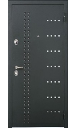 Стальная дверь Бульдорс 44Т (Черный шелк/Ларче шоколад)