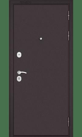 Стальная дверь MASS 90 (Букле шоколад/Дуб графит)