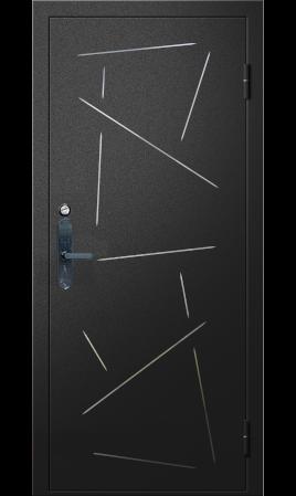 Дверь стальная Fortis-А-N (Sahara 501 Black/Бетон лофт графит)
