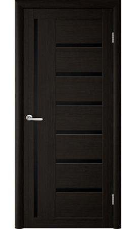 Межкомнатная дверь Trend Doors T-3 (Лиственница темная с черным стеклом)