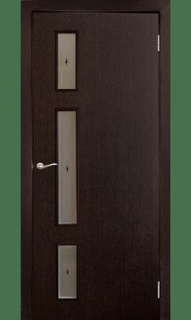 Межкомнатная дверь Вертикаль (Венге черный)