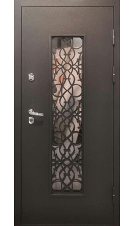 Дверь стальная Хаски 4S (Шоколад/Дуб молочный)