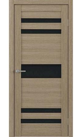 Межкомнатная дверь Trend Doors T-10 (Лиственница латте с черным стеклом)