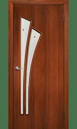 Межкомнатная дверь 4С4Ф/Салют (Итальянский орех)