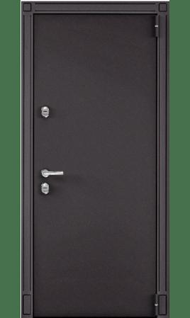 Дверь стальная SNEGIR 55 (Горячий шоколад/Белый шамбори)