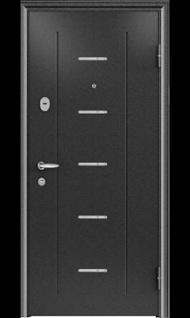 Дверь стальная SUPER OMEGA 7 ( Чёрный шёлк RP-4/Венге 5М7)