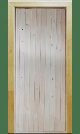 Банная дверь входная  утепленная Тип 1