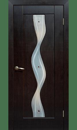 Межкомнатная дверь Вираж ДО (Венге)