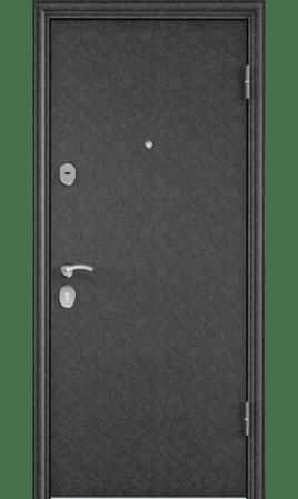Дверь стальная DELTA 100 (Черный шелк/Бетон серый)