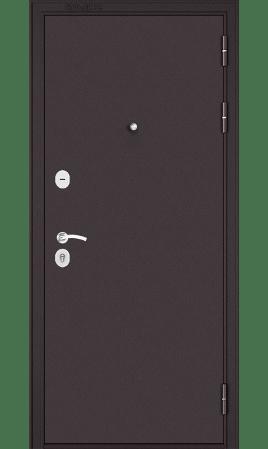 Стальная дверь MASS 90 Mirror (Букле шоколад/Ларче бьянко)
