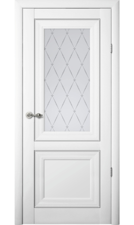Межкомнатная дверь Прадо (Белый)