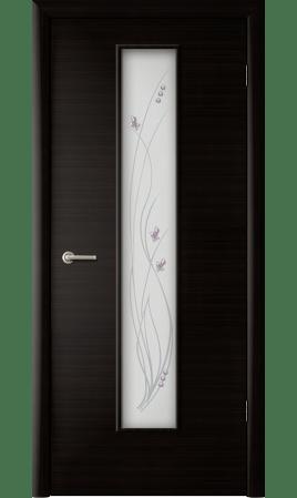 Межкомнатная дверь Роса (Венге черный)