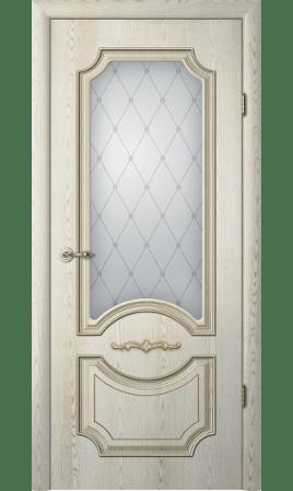 Межкомнатная дверь Леонардо ДО (Ясень голд, патина шампань)