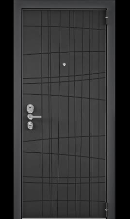 Дверь стальная ULTIMATUM NEXT (Графит матовый/Милк матовый)