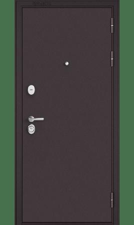Дверь стальная Standart 90 Mirror (Букле шоколад/ Дуб мореный)