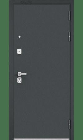 Дверь стальная Premium 90 (Черный шелк/Бетон серый)