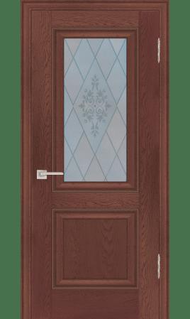 Межкомнатная дверь 27В (Дуб оксворд темный)