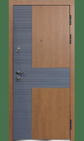 Дверь стальная Лучиано (Синхропоры сицилия+силк титан/Сонхропоры сицилия+силк титан)