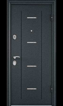 Дверь стальная DELTA 112 (Черный шелк DL-1/CT Wood Brown)