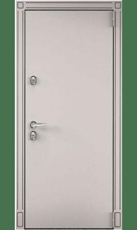 Дверь стальная SNEGIR 55 (Кремовый муар/Милк матовый)