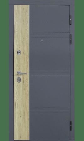Дверь стальная Дарио (Рустик натуральный +Силк титан/Рустик молочный+Силк сноу)