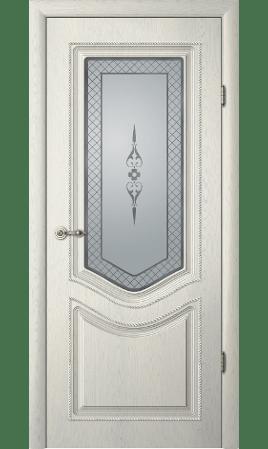 Межкомнатная дверь Рафаэль 1 ДО (Ясень грей, патина серебро)