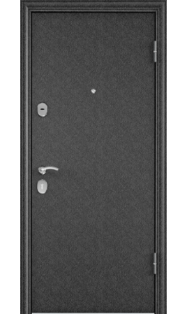 Дверь стальная DELTA 100 (Черный шелк/Бетон светлый)