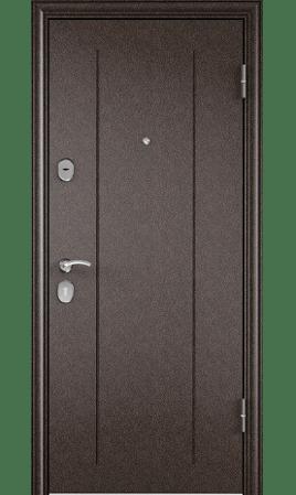 Дверь стальная DELTA  М 10 (Медь/Вельвет белый поперечный)