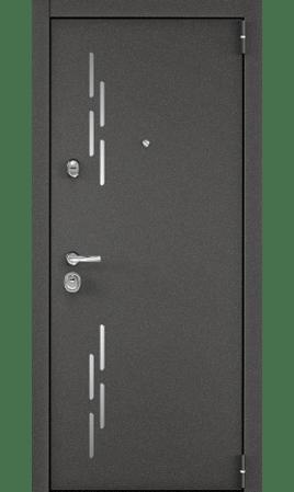 Дверь стальная SUPER OMEGA 100 (Колоре гриджио/Графит матовый)