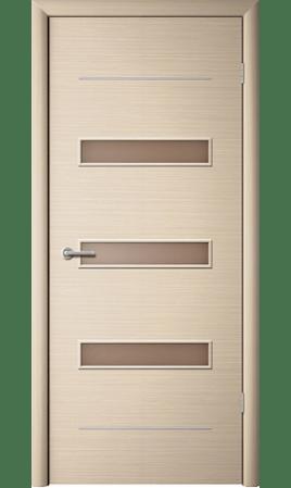 Межкомнатная дверь Капелла (Беленый дуб горизонтальный)